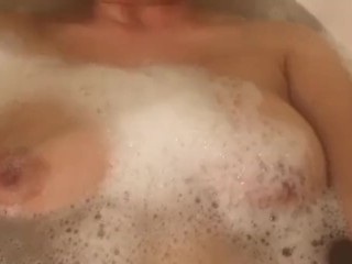 Suds up in bubble bath...