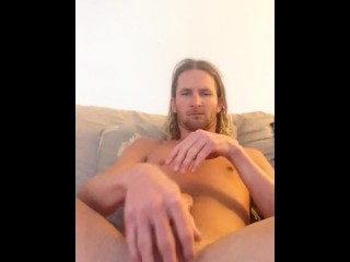 Ripped surfer hard jerkoff