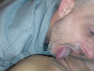 Daddy eats and finger fucks lil girls pussy!