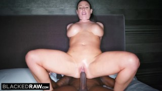 BLACKEDRAW Black stud takes Angela White in her hotel room porno