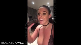 BLACKEDRAW Black stud takes Angela White in her hotel room Teen tight