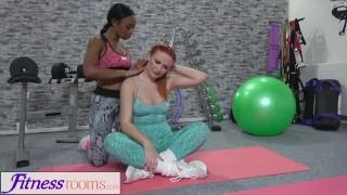Fitness Rooms Russian redhead black British babe interracial lesbian sex