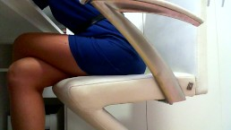 Masturbate at work: Day 45 : Pantyhose fuck with toy