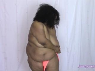 BBW and Her Neon Orange Bikini HD MP4