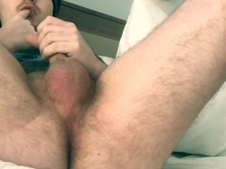 Horny Boy plays with his Ass and Cock until a mess is made