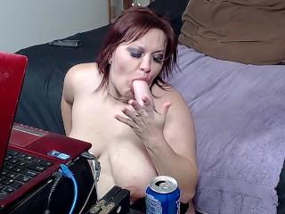 Extreme Deepthroat Sloppy BJ Dildo - ALHANA WINTER - I Can Take Your Cock