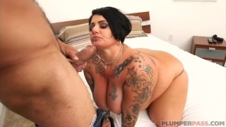 Big Booty Plumper MILF Erika Xstacy gets Bent Over Bed and Fucked