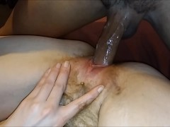 Cream Pie Threesome - Young PAWG & MILF Double Stacked