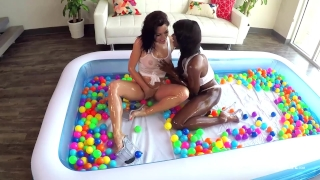 SinsLife Sex Tour: Ana Foxxx, Kissa and Johnny, Oiled Hardcore in Ball Pit! Fuck butt