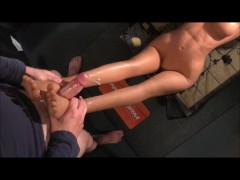 Realistic Sex Doll Mia's 21st Video! Footjob requested by RoadRoller :)