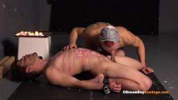 Gay BDSM Slave Boy Cums While Brutally Punished Spanking Spank Bondage Play