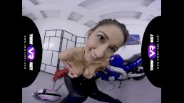 TmwVRnet.com - Darcia Lee - The Biker Babe in Leather Pants Shows Her Best