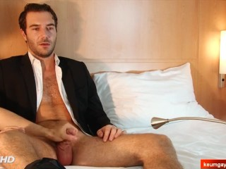 Eric handsome innocent suited straight male in a gay porn.
