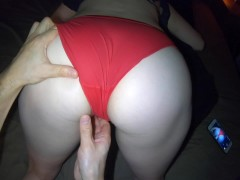 Oily Red Panty Massage Orgasm | Teasing Big Ass Hips and Pussy in Panties