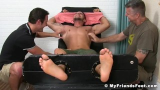 Two pervy dudes restrain and tickle sexy jock Christian W Fetish cdgirls.com
