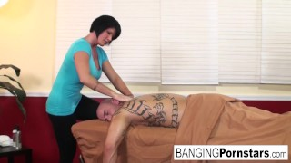 Shay Fox gives happy ending Massage nipples