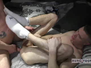He breeds me so hard and deep I can't get the cum out for hours
