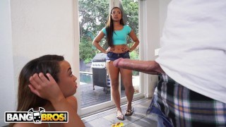 BANGBROS - Sharing is Caring with Adriana Maya and Jamie Marleigh  big ass brown bunnies bang bros bj riding bangbros oral booty ebony black threesome teenager big butt brownbunnies bkb15815
