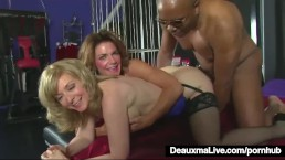 Tiny Flacid Dick Black Dude Fucks Two Super Hot MILFs