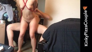 Rough out choked multiple tied orgasms and with fucked tied while