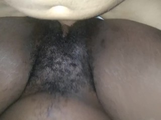 Big Brown Dick in thight black pussy hoe