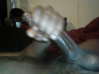 Big Black Cock Cum Surprise Huge Cum Load