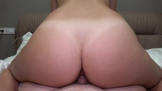 He came too early / Riding and grinding POV Fail Creampie