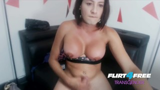 Nicolle Sessy on Flirt4Free Transgender Big Titted Babe Drops a Big Load
