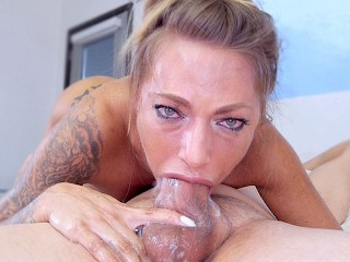 JUELZ VENTURA Deepthroat Blowjob and Cum Swallow! OMG WOW!! Must See! A++