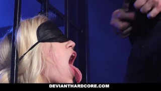 DeviantHardCore - Blonde Slut Caged Up & Dominated