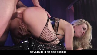 DeviantHardCore - Blonde Slut Caged Up & Dominated Interracial young