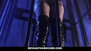 DeviantHardCore - Blonde Slut Caged Up & Dominated Mallory sierra