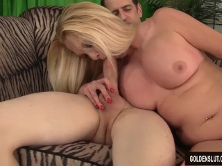 Mature Blonde Sara Skippers Sucks a Dick and Has Her Cunt Fucked
