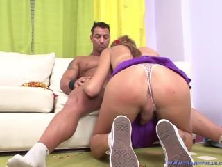 Cheerleading Hot Body Slut TS Mauro Meline Is Fucked & Ass Fucks A Guy Back