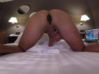 Lovense hush in ass for a good prostate massage