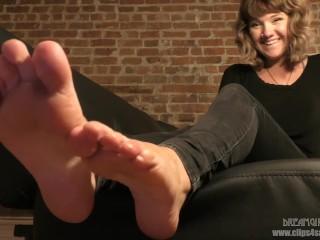 London's Feet in Your Face - (Dreamgirls in Socks)