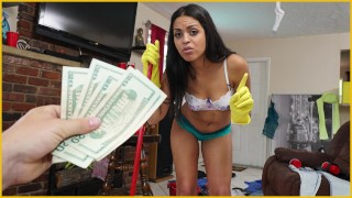 BANGBROS - Sexy, Young Latina Maid Cleans Up A Crazy Clients House