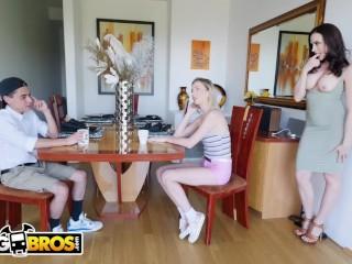 Preview 2 of BANGBROS - Cougar Mom Chanel Preston Fucks Daughter's Boyfriend