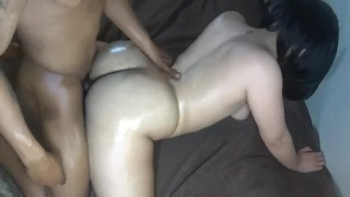 Big butt neighbor girl get's smashed & nutted on, perfect ass!