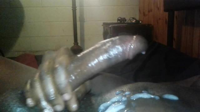 Huge Black Cock Masturbating 'BIG BLACK COCK masturbation'
