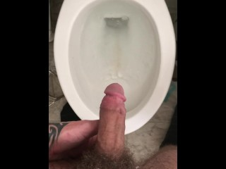Piss release after extended jerk