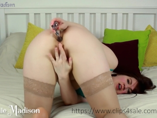 Hot Anal Masturbation with Fingers and Glass Dildo