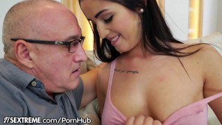 Teen Loren Minardi is Horny for Grandpa Cock