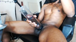 big black cock live webcam cum show with fleshlight penis pump anal plug