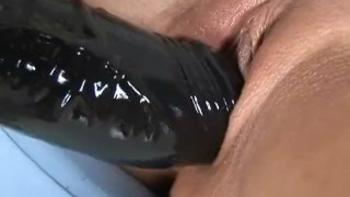 Tight bodied Russian gapes her pussy with brutal dildo Webcam pussy