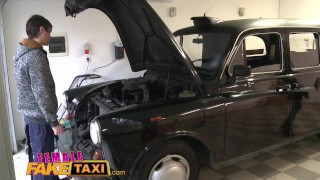 Female Fake Taxi Mechanic gives horny hot blonde a full sexual service porno