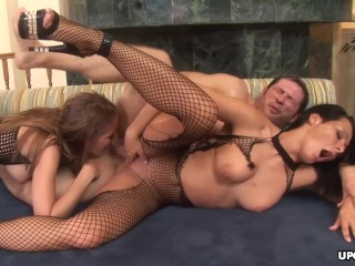 Big boobs a DP and a sizzling hot foursome