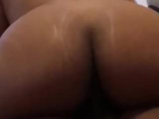 Big ass Riding on Big Black Dick