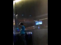 Exhibitionist caught showing ass at the casino