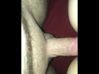 Sitting on daddy's thick cock